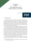 Gobernabilidad Democrática y Reformas Políticas