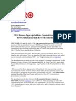 SERO. Appropriations Amendment Release