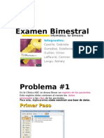 Examen Bimestral