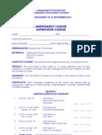 IC - ICSC Checksheet
