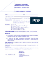 IC - Pro TRs Course Checksheet