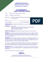 IC - PRD Checksheet