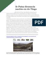 Alcalde de Pataz denuncia contaminación en río Tingo