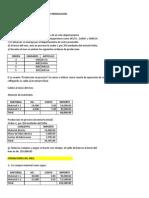 Ejercicio de Costo Por Ordenes de Produccion -Tarea