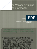 decoding vocabulary using the newspaper ppt