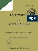 Arcand Adrien - La révolte du matérialisme