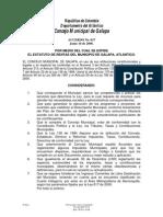 Acuerdo Concejo No. 017'08 Estatuto de Rentas