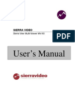 SierraView MV-Xx Manual