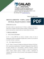REGULAMENTO DA COPA ADM UFES – DE FUTSAL MASCULINO E FEMININO