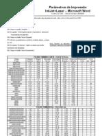 Parametros de Impressao - Etiquetas PIMACO
