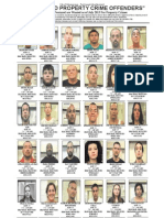 July Most Wanted Property Crime Offenders