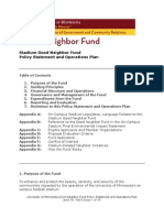 Good Neighbor Fund Operations Plan