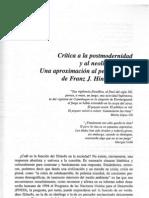 Wauthion, E. - Critica a La Postmodernidad y Al Neoliberalismo. Aproximacion Al Pensamiendo de F. Hinkelammert