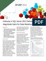 SQL Server 2012 xVelocityBenchmark DatasheetMar2012