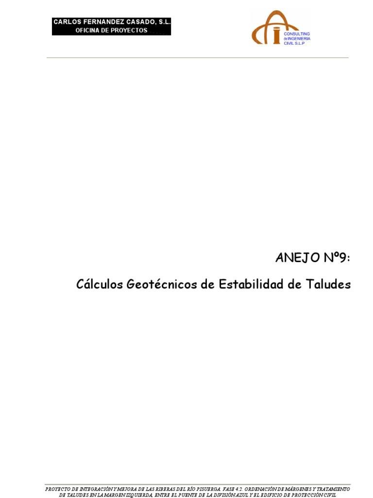 Calculo de Estabilidad de Taludes
