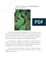 Cultivate Rauvolfia for Reserpine