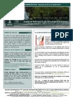 Bulletin d'annonces N° 68 Semaine du 20 au 27 juillet 2013