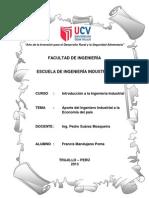 Monografia - Aporte Del Ing. Industrial a La Economia Del Pais