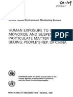 Human Exposure to Carbon Monoxide and Suspended Particulate Matter in Beijing, People's Rep. of China