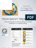 Mental Health Technology in a Medical Setting