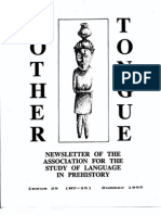 Mother Tongue Newsletter 25 (Summer 1995)