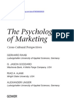 Psychology of Marketing Raab Ch1