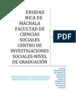 Guía de Presentación del Proyecto de Tesis de Pre-Grado para las Carreras de la Facultad de Ciencias Sociales
