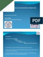Storage tank certification presentation