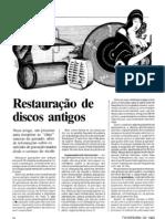 RESTAURAÇÃO DE DISCOS ANTIGOS