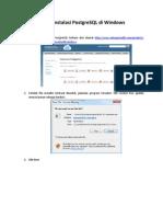 Tahap Instalasi Postgresql Di Windows