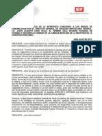 18-07-13 VERSION ESTENOGRAFICA DE ENTREVISTA A CANO VELEZ DESPUES DE REUNION PLENARIA CMIC