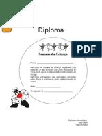 Diploma para a semana da criança
