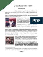 Revised Working Paper Florida Statute 1003