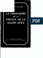 51679404 Villacanas La Formacion de La Critica de La Razon Pura