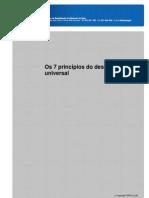 os 7 princípios do desenho universal