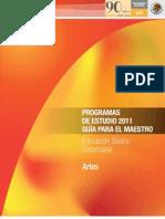 Programas de Trabajo 2011 Nivel Bsico Secundaria ARTES
