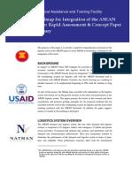 Towards an Integrated ASEAN Logistics Sector roadmap