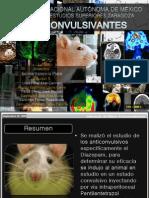 Evaluación de fármacos efecto Anticonvulsivantes en rata