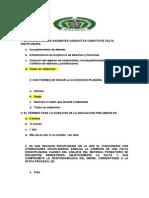 Examen Derecho Disciplinario