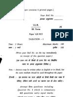 Paper Lb 3033 Taxation i