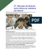 Discriminación étnica  en el ámbito laboral sesión 7