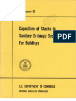Capacity of Vertical Drainage Stack
