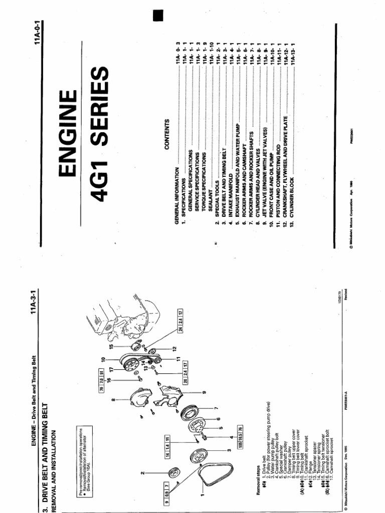 Manual de Mitsubishi 4g13