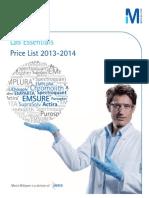 Lab Essentials Price List 2013 2014