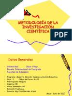 METODOLOGIA DE LA INVESTIGACIÓN CIENTIFICA-DIAPOSITIVAS