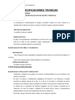 Especificaciones Tecnicas de Ampliacion Alto Cerro Verde