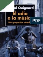 Quignard, P. El Odio a La Musica