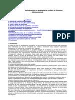 La Auditoria informatica dentro de las etapas de Análisis .