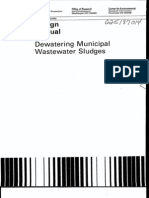 Design Manual -Dewatering of Muncipal Wastewater Sludge