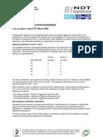 PSL 30 Log of Pre Cert Experience